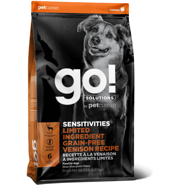 Go! Solutions Sensitivities - Limited Ingredient Diet (LID) Venison Grain-Free Dog Food (3.5lb, 22lb)