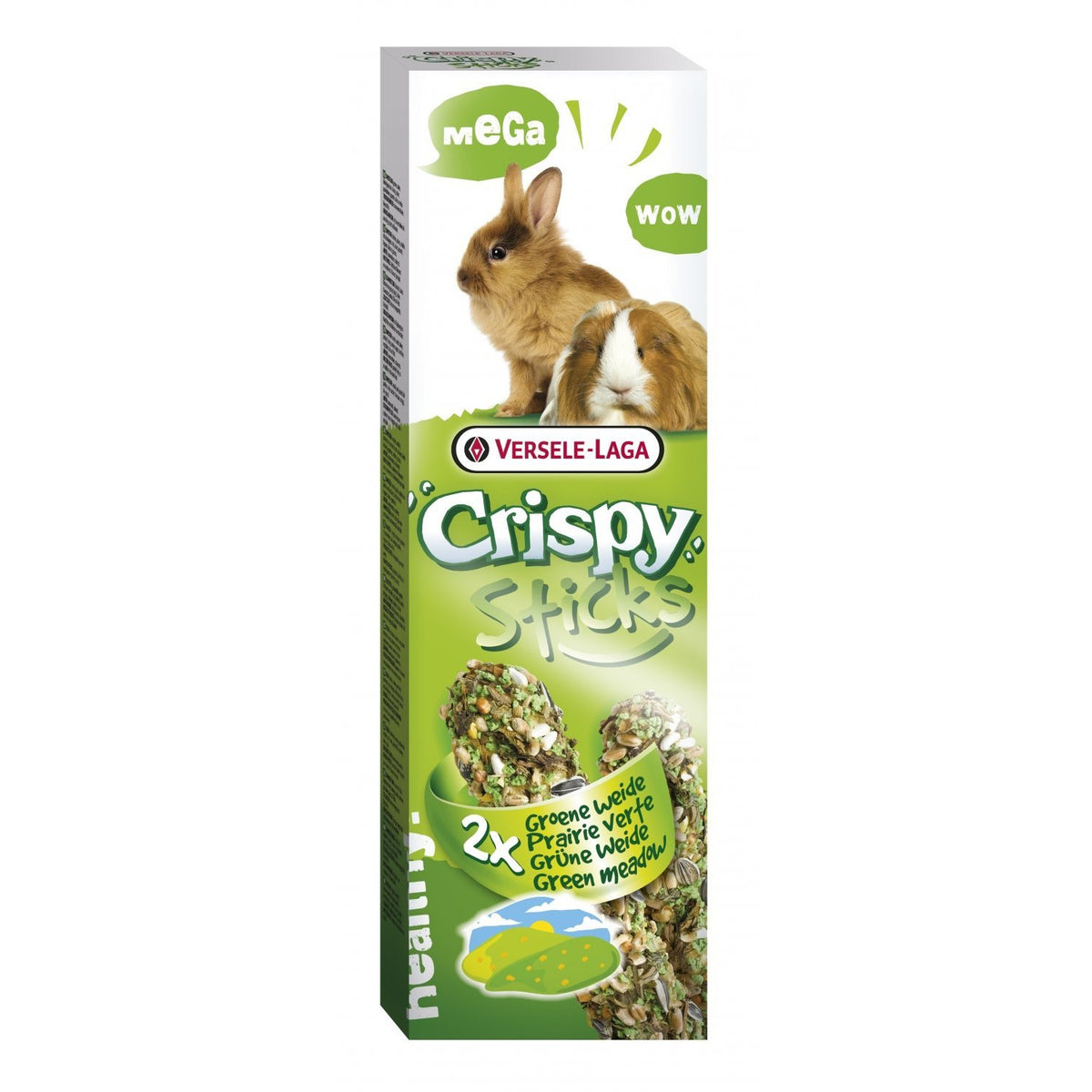 Versele Laga Crispy Sticks rabbits and guinea pigs Green Meadow