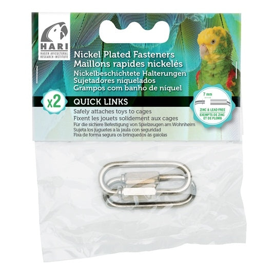 HARI Quick Links Nickel-Plated Fasteners - 2 pack - Medium - 7 mm