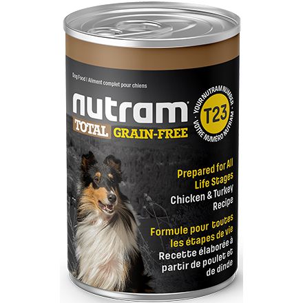 Nutram T23 Total Grain-Free® Chicken and Turkey Recipe Wet / Canned Dog Food (369g)