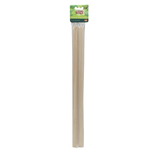 Living World 2 Wooden Perches 47cm (19 in) 2-pack