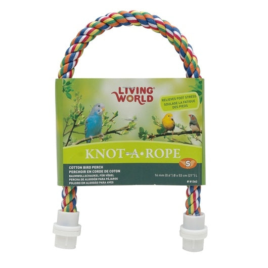Living World Multi-Coloured Cotton Perch 16 mm dia x 53 cm L