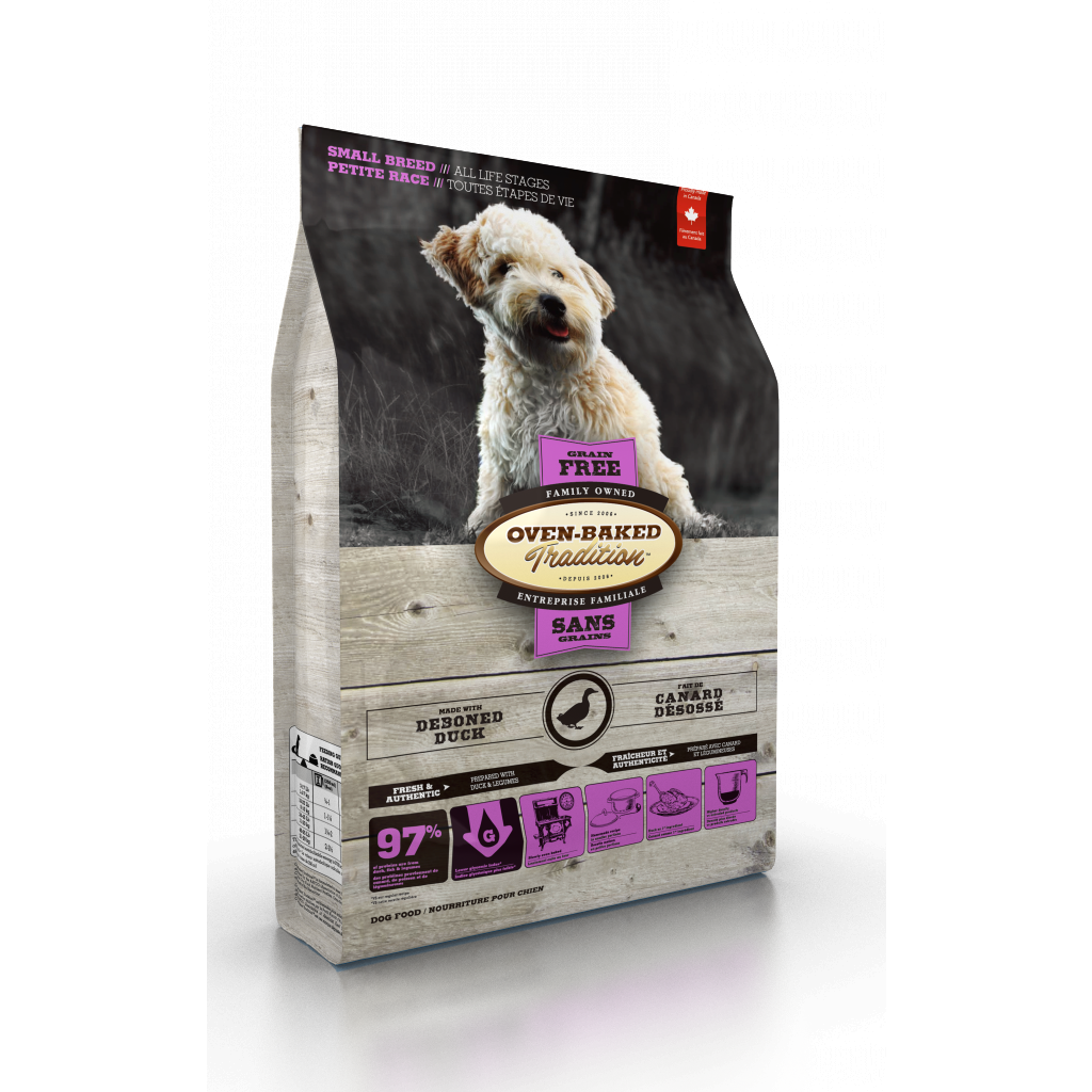 Oven Baked Tradition - Grain-Free Duck Dog Food for Small Breeds