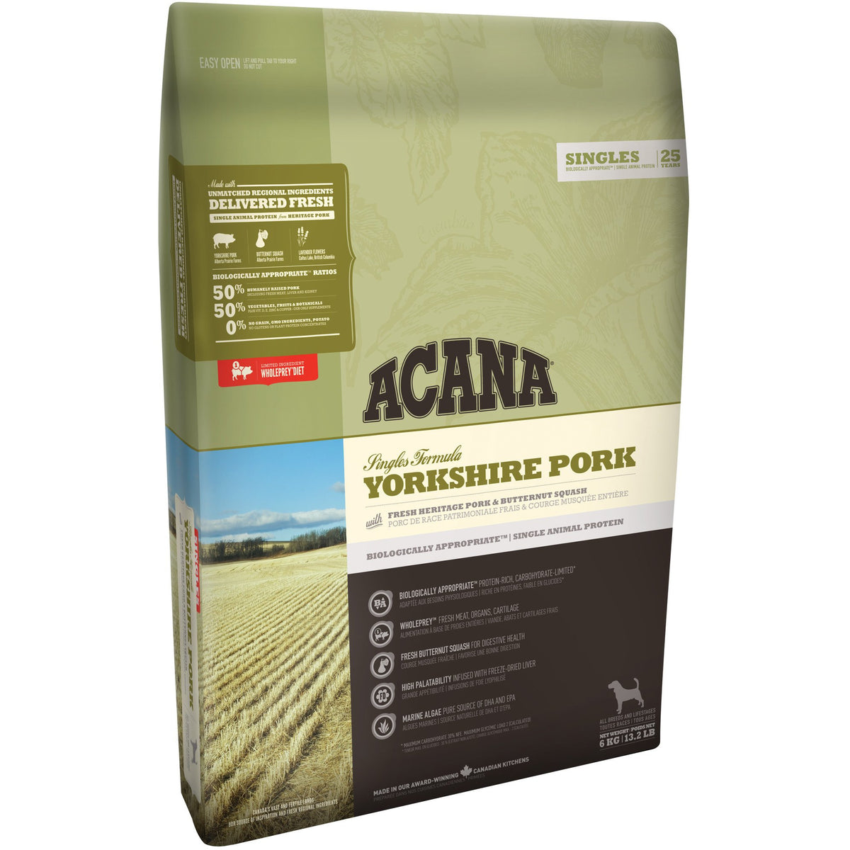 Acana Yorkshire Pork Dog Food (2kg, 6kg, 11.4kg)