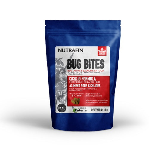Nutrafin Bug Bites Cichlid - Pellets for Large Cichilds (M/L) (100g)
