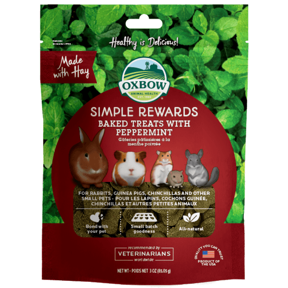 Oxbow Simple Rewards - Baked Treats with Peppermint