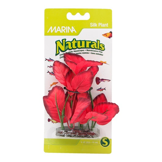"Marina Naturals Red Foreground Silk Plant - 12.5 - 15 cm (5-6"")"