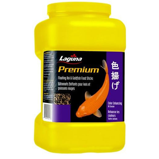 Laguna Premium Koi and Goldfish Floating Food Sticks - Colour Enhancing Diet