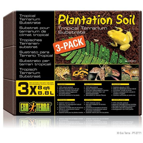 Exo Terra Plantation Soil, 3-pack (3 x 8qt)