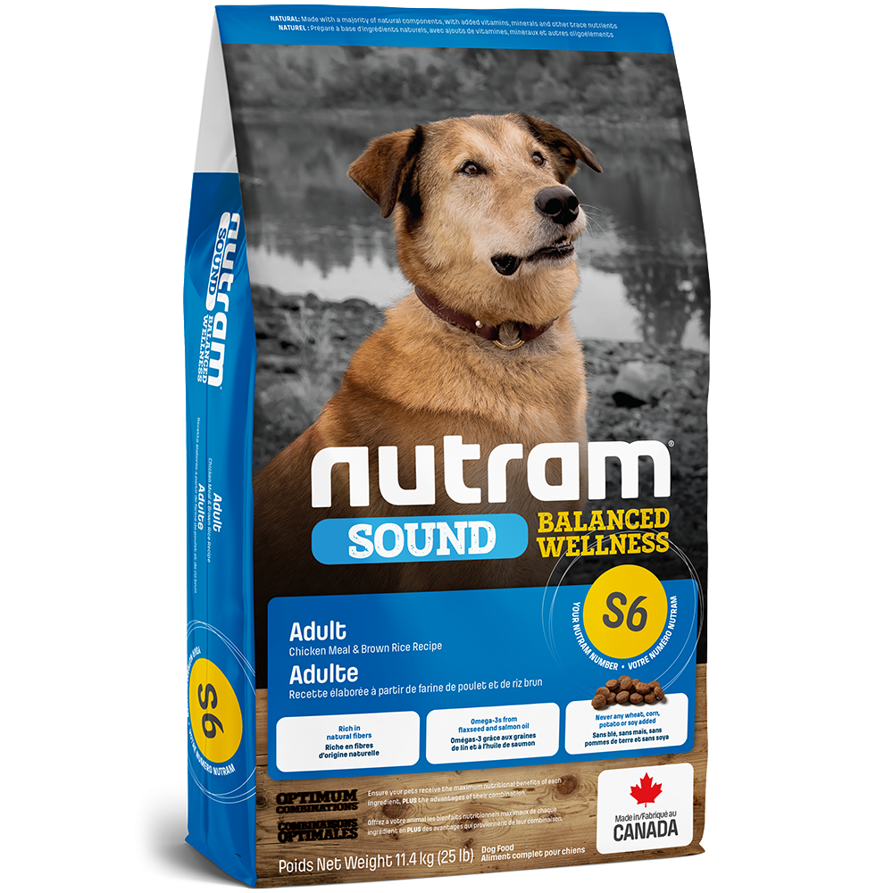 Nutram S6 Sound Balanced Wellness - Adult Natural Dog Food