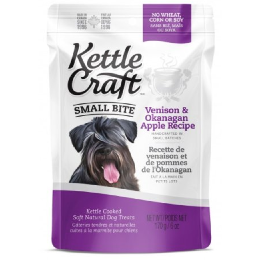 Kettle Craft Dog Treats Small Bite - Venison & Okanagan Apple Recipe (170g)