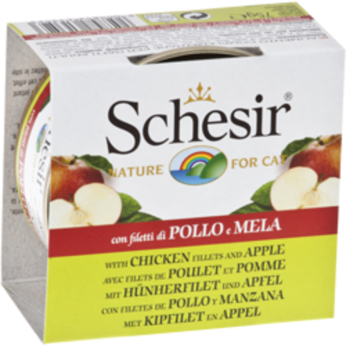 Schesir Chicken Fillets with Apple - Wet Canned Cat Food