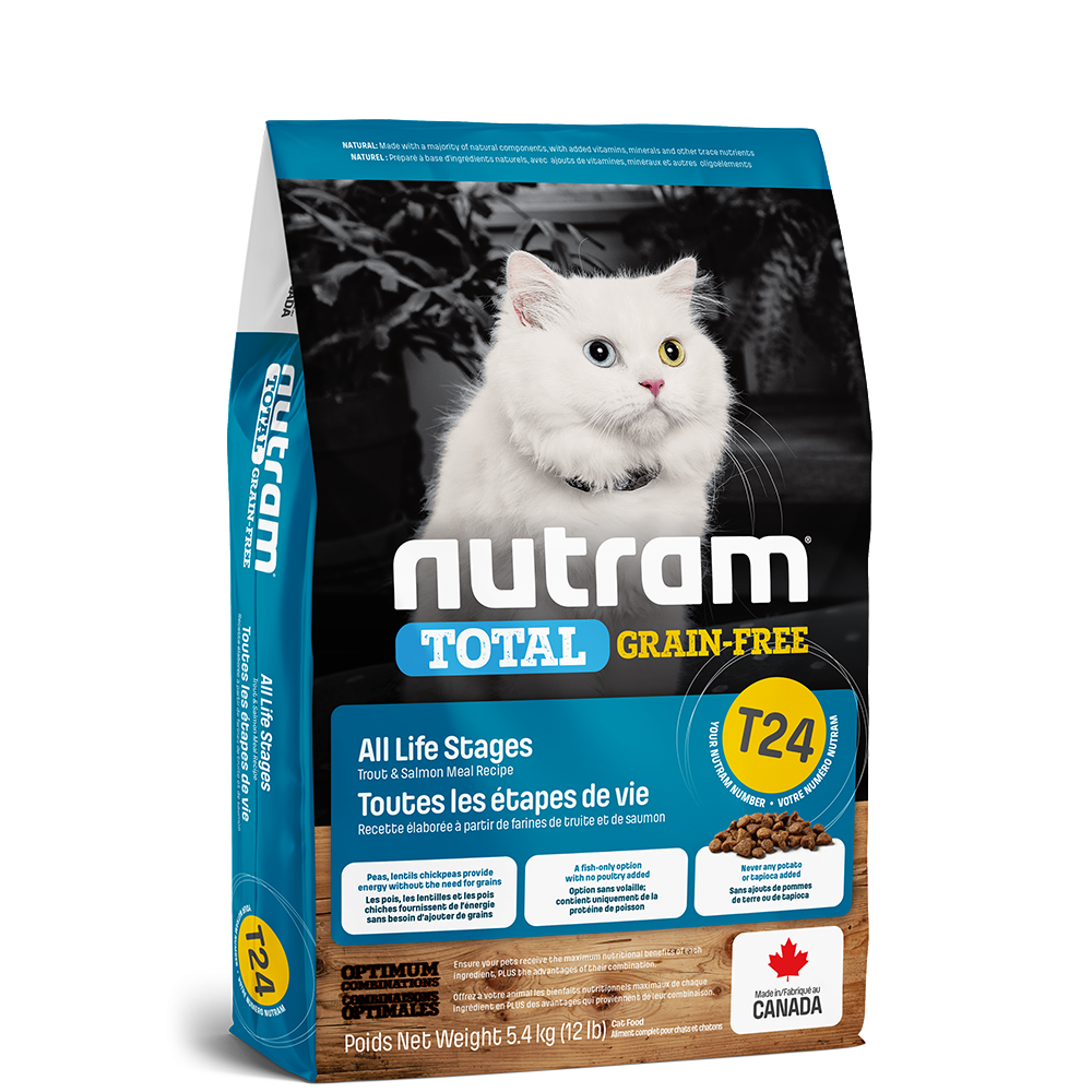 Nutram T24 Total Grain-Free Trout and Salmon Meal Recipe - Cat Food