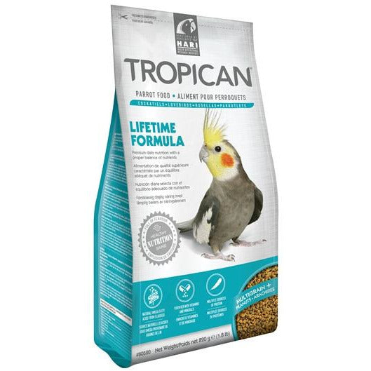 Tropican Lifetime Formula Granules for Cockatiels - 820 g