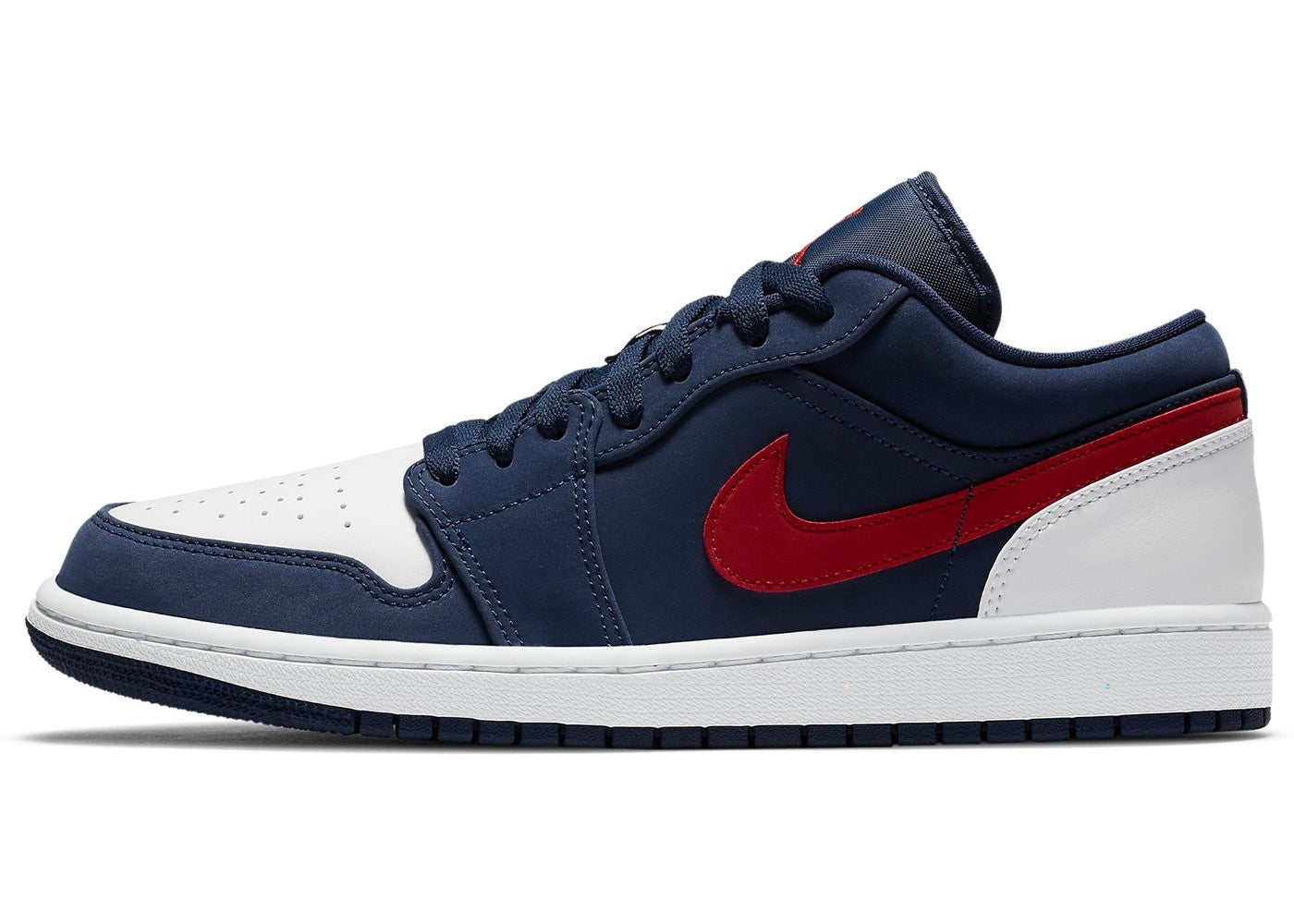 Jordan Air Jordan Low 1 'Blue Gym Red White' - Street Peek