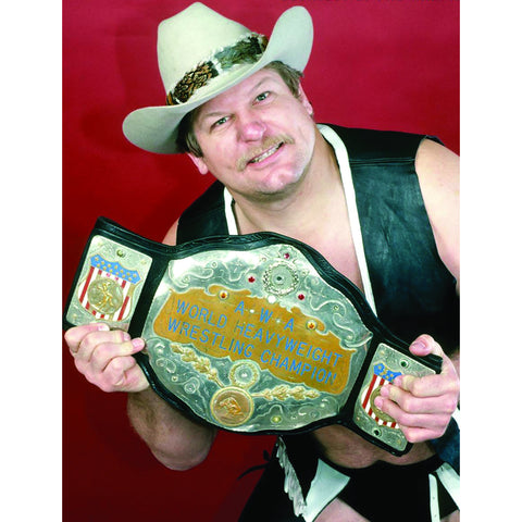 *Signed* Stan Hansen AWA Title Red 8 x 10 Promo