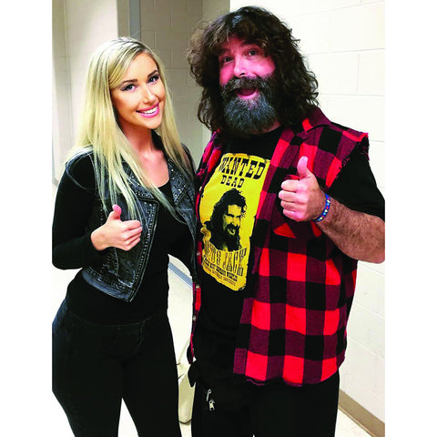 *Signed* Mick and Noelle Foley Thumbs Up 8 x10 Promo