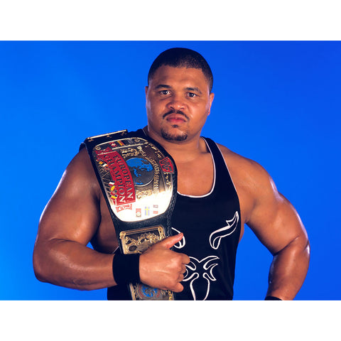 *Signed* D'Lo Brown Euro Title 8 x 10 Promo