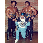 *Signed* Doom with Teddy NWA Belt- Brickwall 8 x 10 Promo