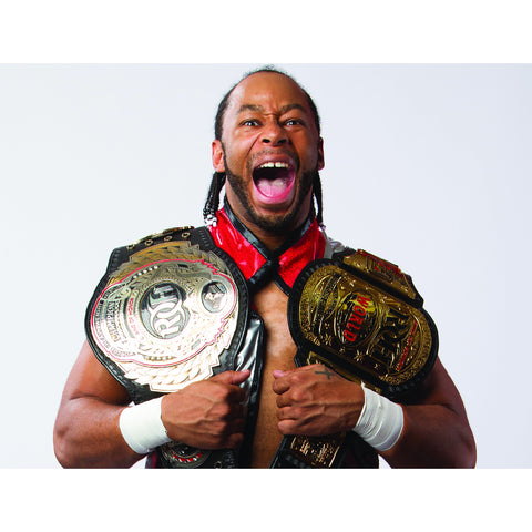 *Signed* Jay Lethal Two Belt 8 x 10 Promo