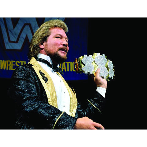 *Signed* Ted DiBiase Money Belt 8 x 10 Promo