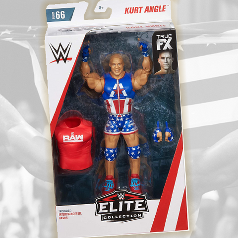 *Signed and Inscribed* Kurt Angle Elite #66 Figure