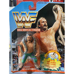*Signed* Jake the Snake Roberts  *Italian* HASBRO on Card