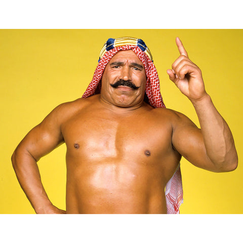*Signed* Iron Sheik Yellow Background Promo