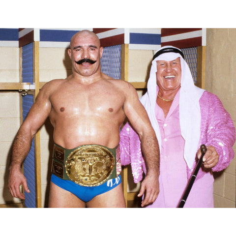 *Signed* Iron Sheik with Class 8 x 10 Promo