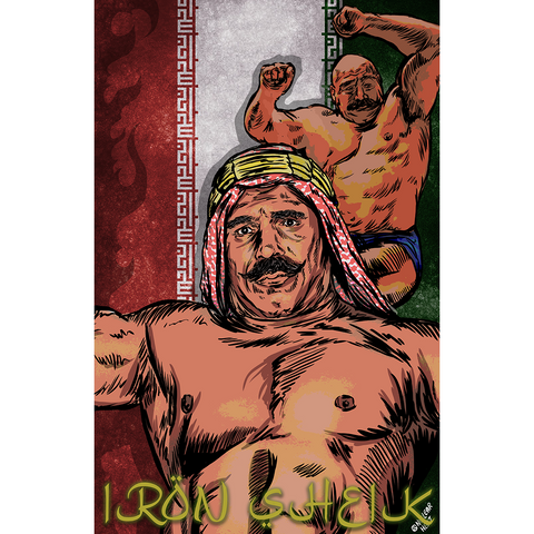 *Signed* Iron Sheik Nuclear Heat 11 x 17 Poster