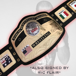 *Dual Signed* NWA Title Signed by Funk and Flair