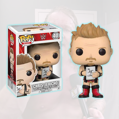 *Signed* Chris Jericho Reg, Funko with Protector