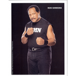 *Signed* Ron Simmons Damn 8.5 x 11 Promo