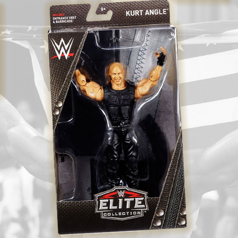 *Signed and Inscribed* Kurt Angle Mattel Exclusive Shield Figure