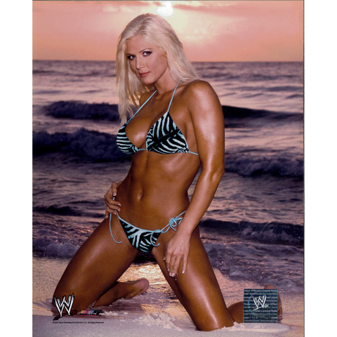 *Signed* Torrie Wilson Beach Pose 8 x 10 Photo File