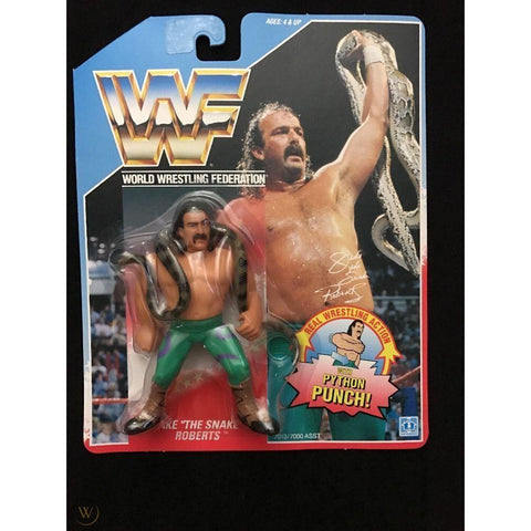 *Signed* Jake the Snake Roberts  *American* HASBRO on Card