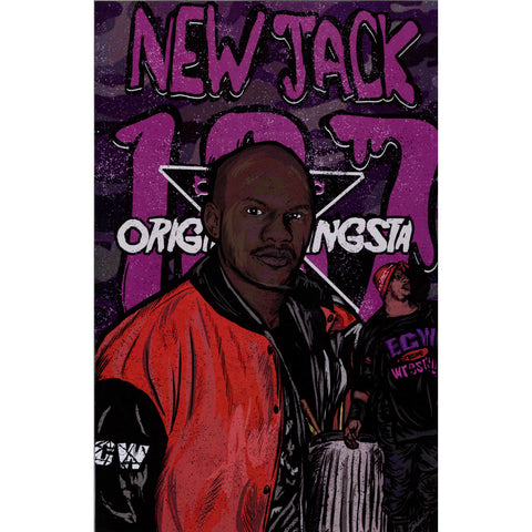 AUTOGRAPHED NEW JACK NUCLEAR HEAT 11 X 17 POSTER