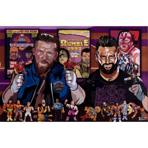 AUTOGRAPHED MWFP NUCLEAR HEAT 11 X 17 POSTER