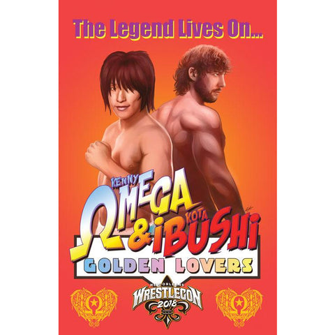 "*Signed* Kenny Omega ""Golden Lovers"" 11 x 17 print"