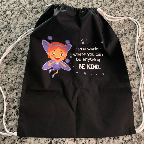 Garden Fairy Drawstring Bag