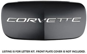 C5 Corvette Stainless Steel Front + Rear Bumper Letter Kit Combo 97 thru 04