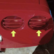 Load image into Gallery viewer, C5 Corvette Tail Light Louver Kit Phantom Euro Style GM Correct Magnetic Red