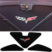 Load image into Gallery viewer, C6 Corvette Trunk Lid Liner w/ Cross Flag Embroidered Emblem 3Pc Kit 05-13