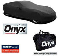 C8 Corvette HIGH END Onyx Black Satin Custom FIT Stretch Indoor CAR Cover FITS: All C8 2020-21 CORVETTES