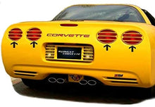 Load image into Gallery viewer, C5 Corvette Tail Light Louver Kit Phantom Euro Design Painted with GM Correct Match Millennium Yellow Paint Fits: All 97 Through 04 Corvettes