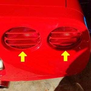 C5 Corvette Tail Light Louver Kit Phantom Euro GM Correct Torch Red 97 thru 04