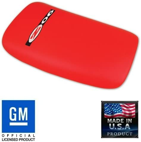 C5 Corvette Center Console Pad Lid Torch Red Leather with Black ZO6 Embroidered Emblem Fits: All 97 Through 04 Corvettes