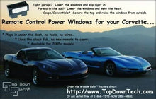 Load image into Gallery viewer, C6 Corvette Window Valet Operate your Windows with the Stock Remote Fits: 05-13