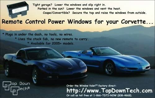 C6 Corvette Window Valet Operate your Windows with the Stock Remote Fits: 05-13