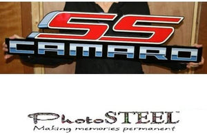 "Camaro SS w/ Script Full Size Wall Emblem Art 34"" by 8"" 5th Gen 2010 thru 2015"